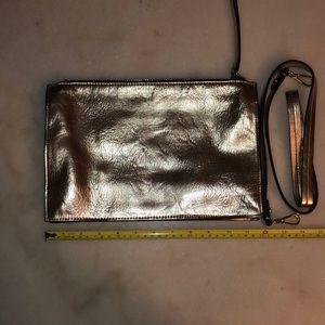 Zara gold clutch with optional strap